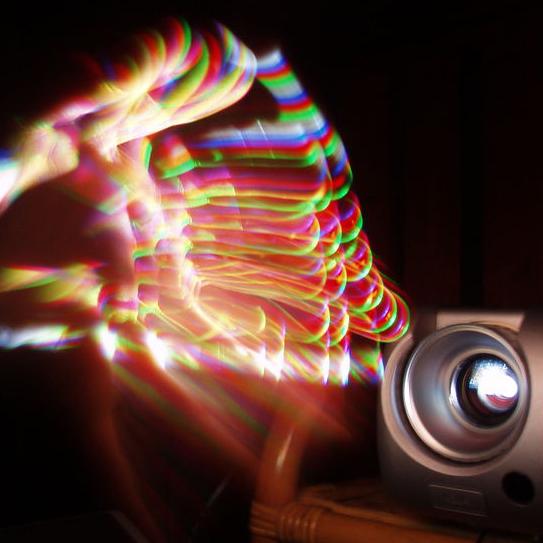 Regenbogeneffekt bei einem DLP-Beamer